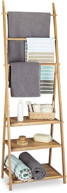 Ladder Bookcase, Bathroom Inspiration, Ladder Decor, Towel, Shelves, Projects, Amazon Fr, Home Decor, Terra