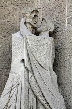 The Temple of the Sagrada Familia, Passion Facade, The Kiss of Judas Photographic Print at AllPosters.com