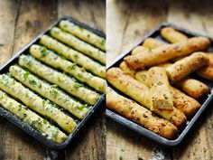 Garlic and herbs little breads - Recipe in English. Dorian Cuisine, English Food, Scones, Bread Recipes, Green Beans, Zucchini, Biscuits, Pains, Garlic
