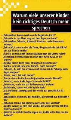 Warum unsere Kinder kein richtiges Deutsch mehr sprechen:
