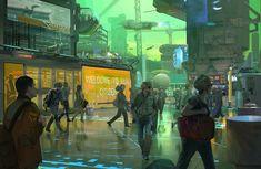 Messy, Grimy, Crowded Cyberpunk - Imgur
