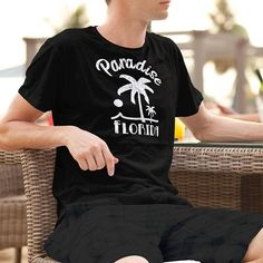 Paradise Florida Palm Tree Shirt Group or Family Vacation