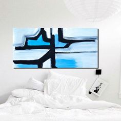 Extra large painting Abstract painting modern by PooArtGallery