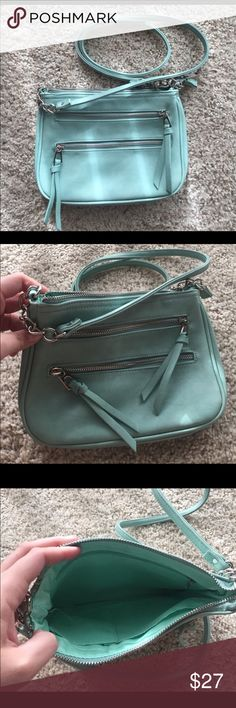 Dress Barn Cross body ocean Blue Never Used, small cross body! Adjustable strap 10 inches Wide 7.5 inches tall.. silver hardware Dress Barn Bags Crossbody Bags