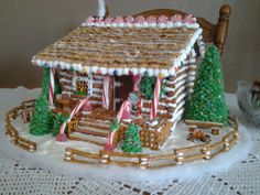My Log Cabin Gingerbread House - 2013