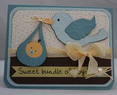 Quick Chick Designs: 3 Birds Baby Card