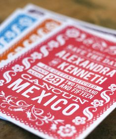 Hey, I found this really awesome Etsy listing at https://www.etsy.com/listing/162552297/papel-picado-save-the-date-mexico-fiesta
