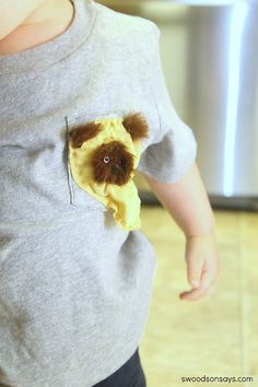 ewok applique tshirt by swoodsonsays, via Flickr