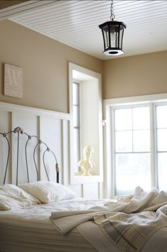 "Paint Color Ideas ""Benjamin Moore Shaker Beige HC-45″."