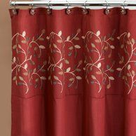 Maria Red Shower Curtain Walmart Com Fabric Shower Curtains