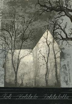 Piia Lehti: Kotitalo / Home, 2015, silkscreen on plywood, 50 x 35 cm