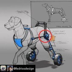 How to Make a Dog Wheelchair : 6 Steps - Instructables Pop Design, Sketch Design, Design Concepts, Design Design, Graphic Design, Diy Dog Wheelchair, Lightweight Wheelchair, Disabled Dog, Industrial Design Sketch