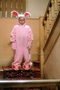 Mr. Parker: He looks like a deranged Easter Bunny.  Mother: He does not!  Mr. Parker: He does too, he looks like a pink nightmare!