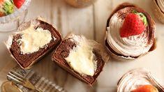 カップに入ったチョコシフォンケーキ 中にクリームでしっとり美味しい!|バレンタインの手作りお菓子|HidaMari Cooking