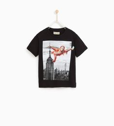 Discover the new ZARA collection online. The latest trends for Woman, Man, Kids and next season's ad campaigns. Empire State, Kids Wear, Zara, Crop Tops, Boys, Mens Tops, How To Wear, T Shirt, Building