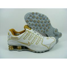 b2dbad39fb8ee3 Nike Shox NZ White Gold Men Shoes  79.59