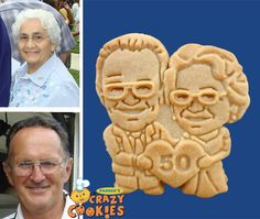 50th Wedding Anniversary - Custom Cookies - Unique Favors - Edible Gifts - Celebrate Love