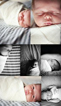 Adorable newborn lifestyle photos. I like that the baby is swaddled instead of in a diaper/white onesie. Cute but still natural. Newborn photography | lifestyle newborn photos