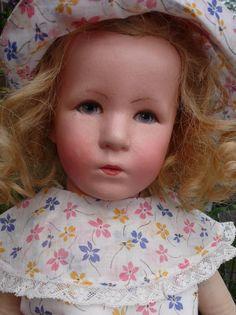 Käthe Kruse Puppe, deutsches Kind, 1930 Stoffkopf, unrestauriert Originalzustand   eBay