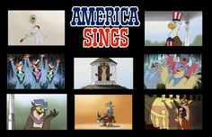 A compilation of images from my animated version of the former Disneyland attraction, 'America Sings'.