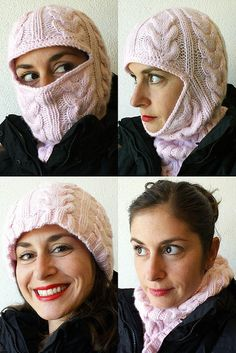Free Pattern: From Russia, with Love: Cabled Balaclava by Nikol Lohr.