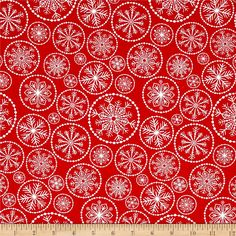 Winter Essential IV Large Snowflake Red from @fabricdotcom From Studio E, this cotton print collection features classic color combinations and traditional winter and Christmas themes. Perfect for quilting, apparel, and home decor accents. Colors include red and white.