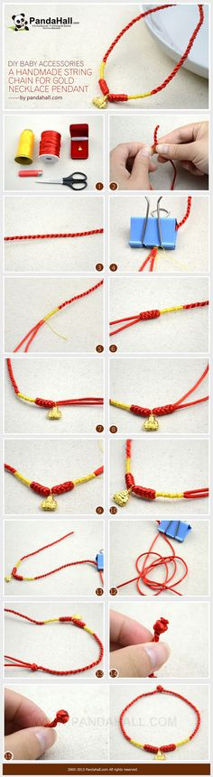 This post is going to show you how to make a one-of-a-kind symbolic DIY baby accessory, that is handmade into a red string chain to hang on a precious gold necklace pendant. This tutorial is easy-to-follow for all moms.