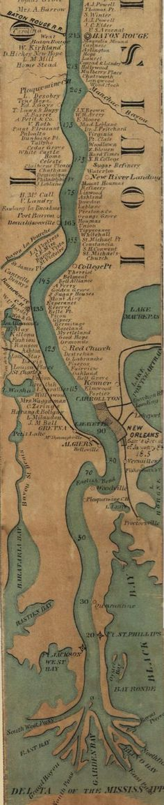 Mississippi River map. ✿♔Life, likes and style of Creole-Belle♔✿