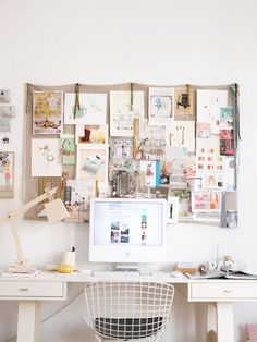 Home Office // Desk // Apartment // Interior Design // Home design ideas decorating before and after room design decorating Home Office Inspiration, Workspace Inspiration, Inspiration Boards, Office Ideas, Moodboard Inspiration, Desk Inspo, Office Inspo, Business Office Decor, Office Designs