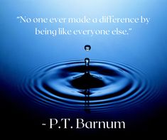 """""""No one ever made a difference by being like everyone else."""" - P.T. Barnum #bethedifference #success #dreambig Meditation Quotes, Daily Meditation, Social Marketing, Digital Marketing, Marketing News, Affiliate Marketing, Water Challenge, Challenge Ideas, This Is A Book"""