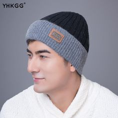 dc143408770 Knitted Winter Hats for Men Winter Hats For Men