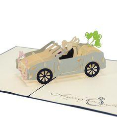 Wedding Car 3D Cards, Wedding Pop Up  Invitations, Custom wedding card