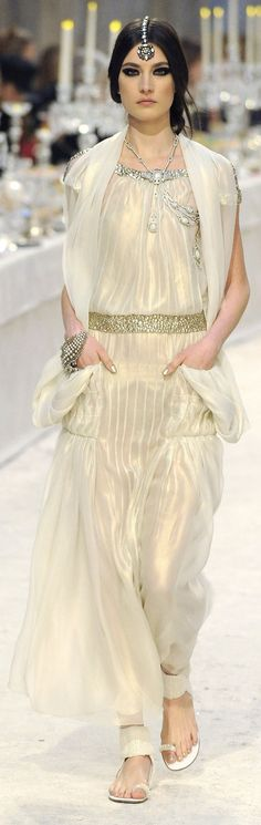 couture. Chanel, Incredible.... I love, love, really love this one. This gown is in the Chanel  Fashion Video where you can see it come down the runway.... Gorgeous. B.