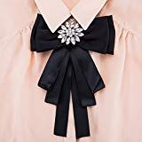 Women Bow Tie with Brooch Pin Shirt Tie Jabot Collar Neck Tie Cravat for Wedding Party Accessories Brooch (Black) Boho Jewelry, Jewelry Design, Fashion Jewelry, Women Bow Tie, Bow Tie Wedding, Handmade Scarves, Crystal Wedding, Jewelry Holder, Jewellery Storage