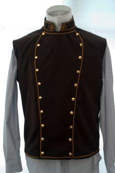 Steampunk Military Style Vest/Waistcoat. £69.00, via Etsy.