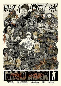 bmkillustration Med Max, Imperator Furiosa, Mad Max Fury Road, Tom Hardy, Fan Art, Films, Movies, Drawings, Artist