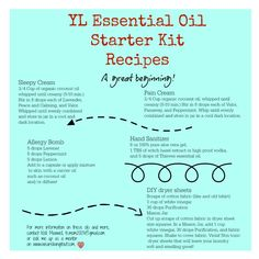 Young Living Essential Oil Starter Kit Recipes DIY Natural Home To order: www.youngliving.org/ambermoore