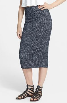 Free People 'Heart Breaker' Knit Midi Skirt available at #Nordstrom