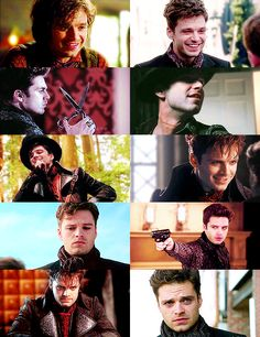 """Sebastian Stan as The Mad Hatter. When i saw him in this, i was like """"no no no! You're Captain America's Best Friend!!!"""""""