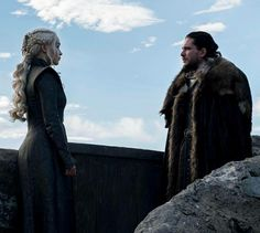 Dany and Jon, Season 7 Game Of Thrones.