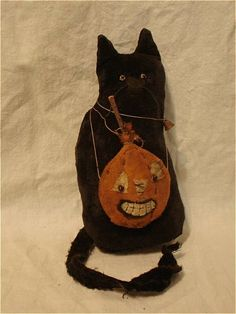 Of Cloth and Hand Cat with Pumpkin