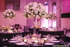Extravagantly Beautiful Tall Centerpieces- Perfect for a Black Tie Event
