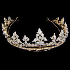 AN tiara de diamantes VICTORIAN IMPORTANTE