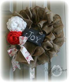 Christmas Wreath along with other Christmas Decor 2012. ~ by Vintage Cove.