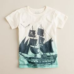 Boys' pirate ship tee / J.Crew