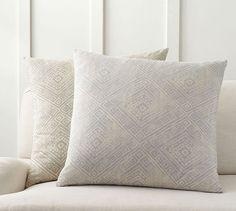 Diamond Print Pillow Cover   Pottery Barn