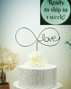 Infinity wedding cake topper custom cake topper by WiredTwist