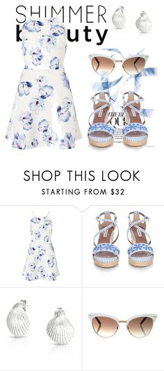"""""""Summer Beauty"""" by erohina-d ❤ liked on Polyvore featuring beauty, Lipsy, Tabitha Simmons, Bling Jewelry and Gucci"""