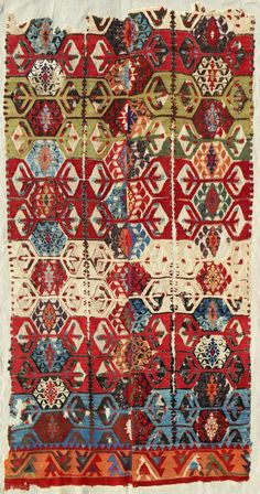 Central Anatolian kilim frag(mounted) > c. 1800