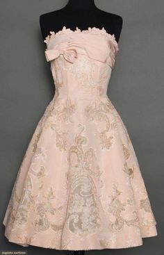 Pierre Balmain Party Dress, 1950s, Augusta Auctions, April 8, 2015 NYC..... love love love !!